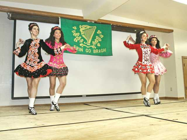 Students from the O'Connor School of Irish dance performed a variety of Irish dances.