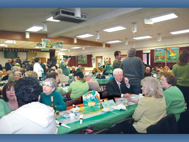 Nearly 200 attendees gathered on St. Patrick's Day to enjoy corned beef and cabbage prepared by the Knights of Columbus Council 6016 in the Parish Hall of Our Lady of Perpetual Help Catholic Church in Newhall.