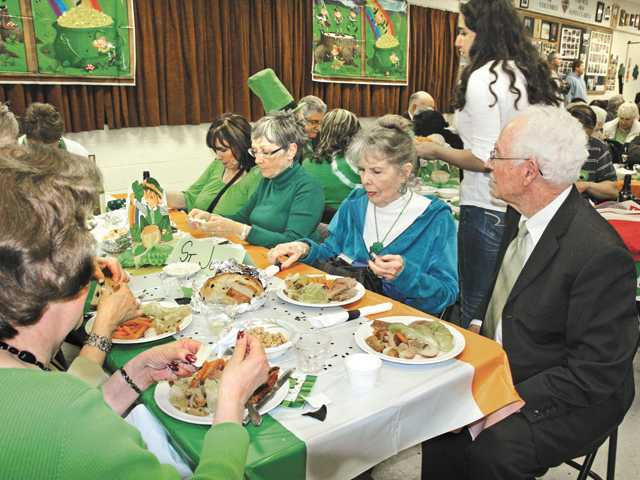 Attendees enjoyed corned beef, carrots and cabbage and homemade Irish soda bread.