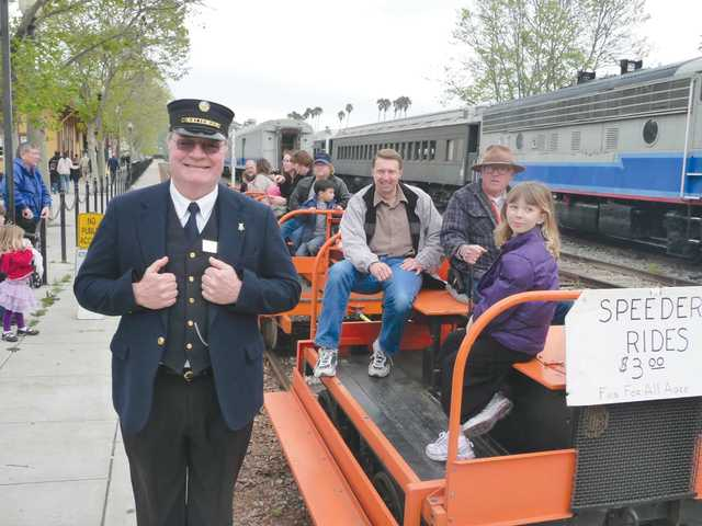 Railfest fun includes trains, of course, but also speeder rides (above), crafts, vendors and much more.