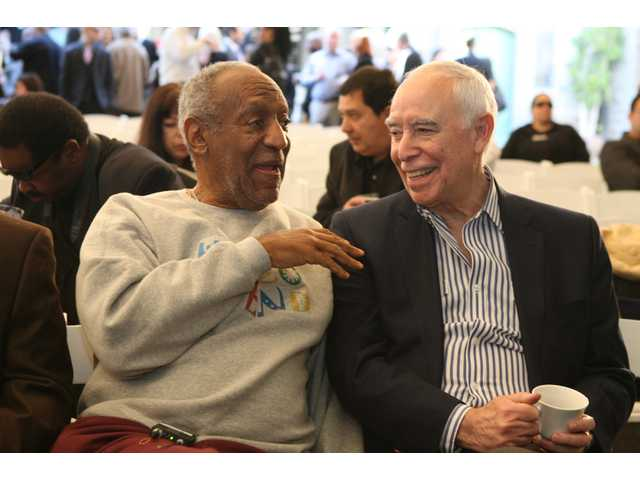 Bill Cosby and Richard Rosenzweig, President Emeritus Playboy Jazz Festivals, at  the kickoff news conference.
