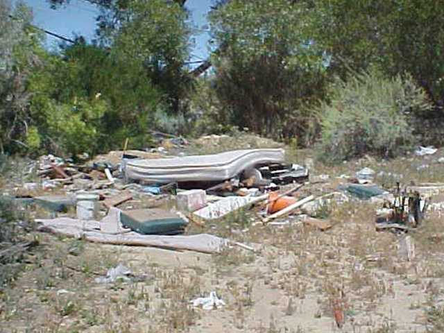 The lot shown above is one of many poorly lit areas in the Santa Clarita Valley where dumping occurs illegally, according to city officials.