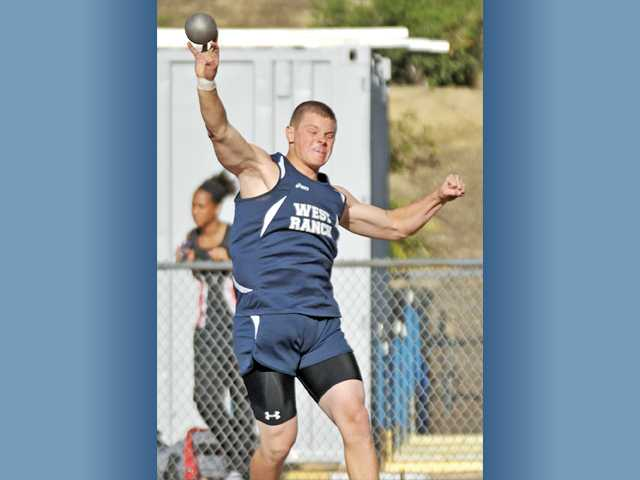 West Ranch senior Nick Bultman has dominated the Foothill League in the shot put and discus the past two seasons. He's learned from his father and coach Dave, who was a CIF champion and junior Olympian.