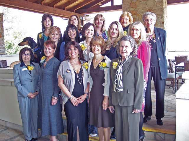 Nominees for the Carmen Sarro Community Service Award gather for a group photo during the awards brunch held Saturday at Robinson Ranch. Left to right, front row: M.J. West, Margo Miller-Hudson, Sandi Naba, Jaci Hoffman and Margie Altman. Middle row,  Jill Bondy, Brendie Heter, Mary Ellen Kearney, Laina McFarren and Jorja Harris. Back row: Sue Reynolds, Leila Rosenberger, Michele Eusebi, Judy Penman and Rose Stoffer.