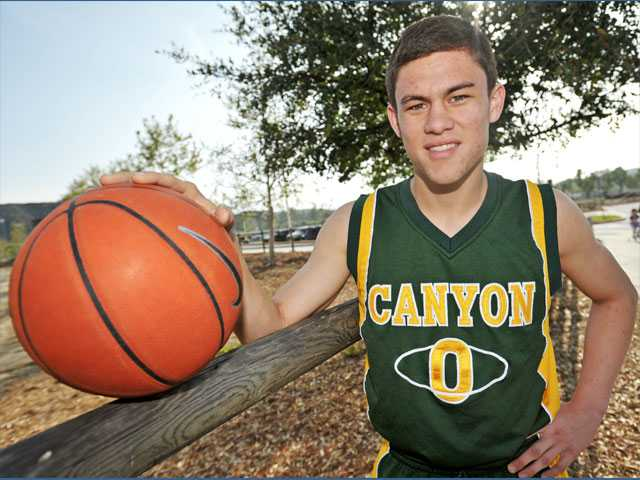 Canyon senior and four-year varsity player Coley Apsay made his teammates better with his court vision and instincts at the point guard position.