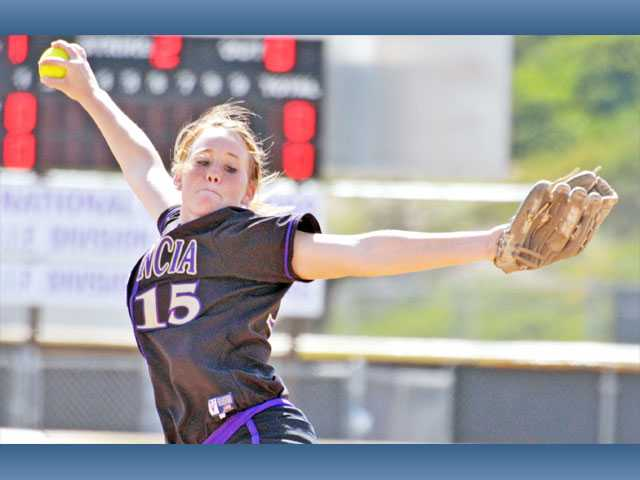Valencia senior pitcher Carly Mortensen is one of the big reasons the Vikings could return to the top of the Foothill League after finishing third a year ago.