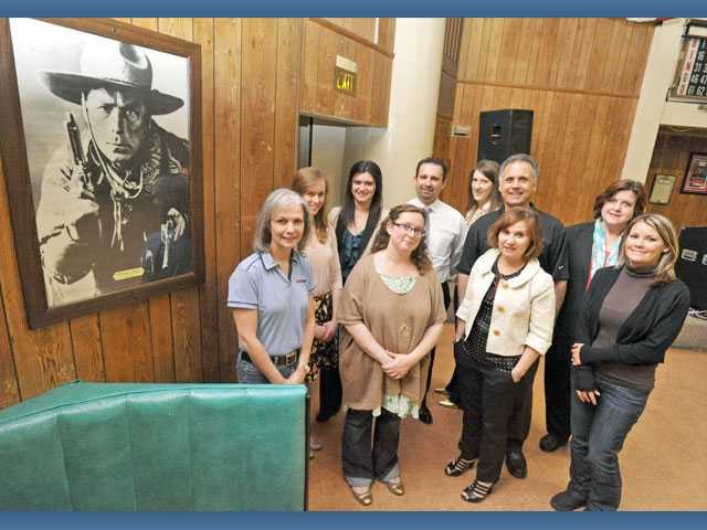 The SCV Habitat for Heroes American Legion Project committee,  left to right first row, Rosemary Longan, Emily Doyle, Jeri Seratti Goldman and Toni Lavaeddin. Back row, Sarah Steffen, Jazmin Urbina, Steve Lavaeddin, Mandy Shaw, Mike Mizrahi and Donna Deutchman.