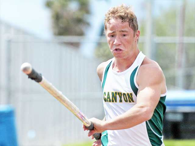 The tenacious spirit of Canyon senior Robert Wolfe has helped him become one of the area's top pole vaulters. His personal best of 14 feet, 3 inches, which was set at the Arcadia Invitational on April 7, has boosted his hopes of not only winning the Foothill League but also going far in the postseason.