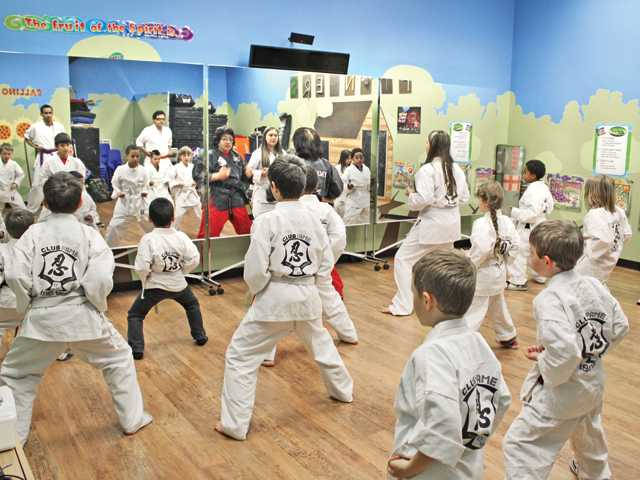The martial arts enrichment class at Club FAME is held within the Higher Vision Church facility in Castaic.