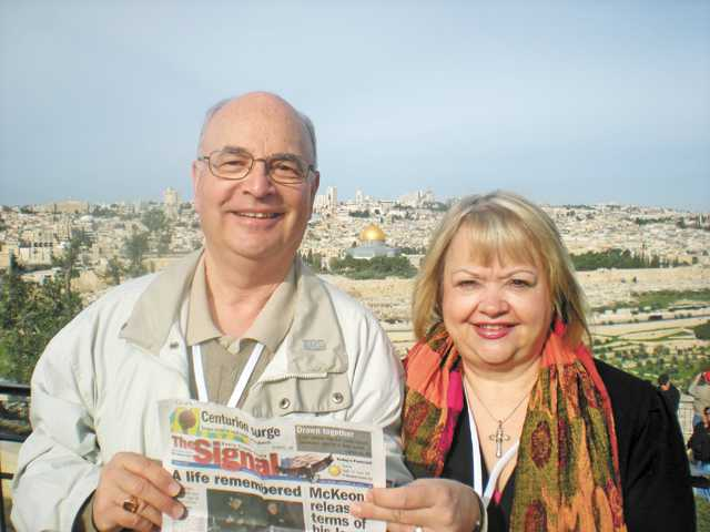 Rev. Stan and Sharon Fix lead a group of 93 in February with United Methodist Bishop Mary Ann Swenson to Palestine and Israel, with 37 going on to Jordan and some to Egypt.