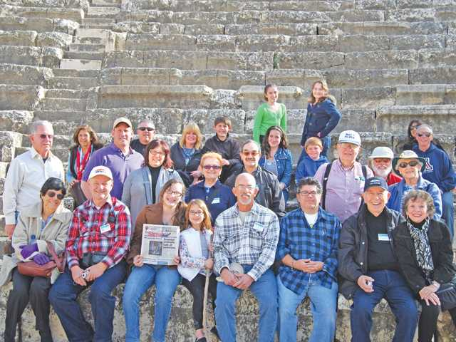 Members of Temple Beth Ami visit Bet-She'an National Park, a Roman-Byzantine city, while on a tour of Israel in February 2012.