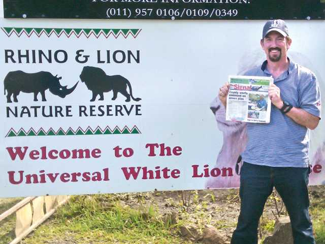 Ken Rifkind, of Valencia, just returned from a two-week business trip to Johannesburg, South Africa. While there, he spent a Saturday morning at the Rhino and Lion Reserve just outside of Johannesburg.