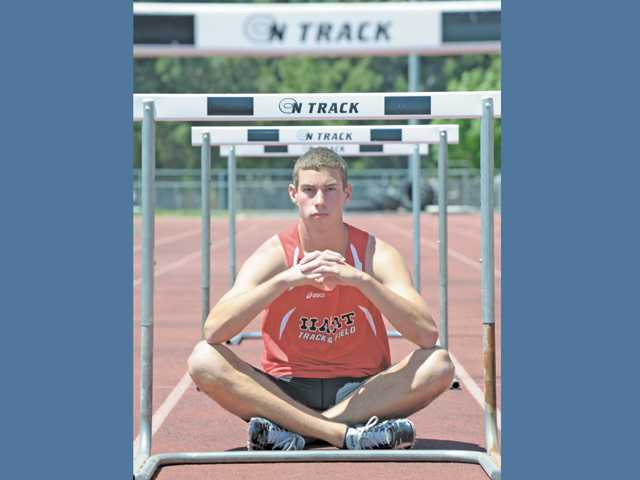 Hart's sprinter and hurdler Riley Stauffer doesn't get all the headlines, but his consistent performances this season helped the Indians to a share of the league title. Now he's hoping for success at Friday's league finals.