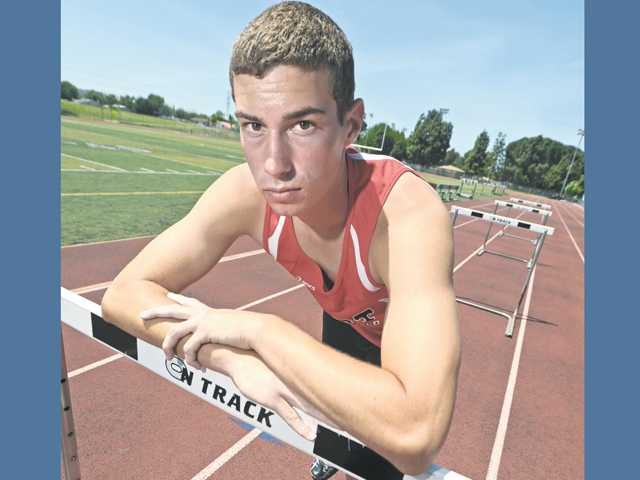 Hart sprinter and hurdler Riley Stauffer has used his skill on the track to average 10 points per meet for the Indians and stars at wide receiver for the football team.