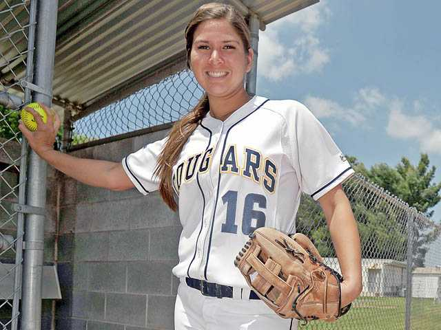 College of the Canyons pitcher Kimmie Lockhart threw a no-hitter in the Cougars first playoff game on Saturday.