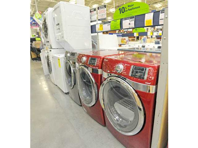 An assortment of washers and dryers that feature new technology and improved energy efficiency.