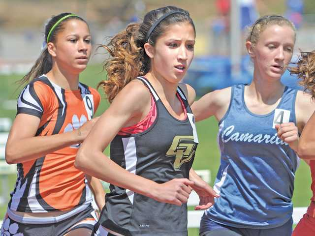 Chelsey Totten of Golden Valley competes in the girls 800-meter race at CIF Southern Section Division II prelims held at Moorpark High School on Saturday.