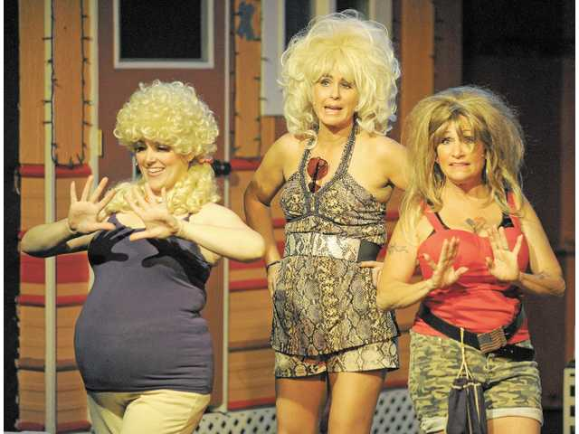 """The Girls"" of Armadillo Acres trailer park, Pickles (Beth Ann Sweezer), Betty (Leslie Berra) and Lin (Lori D'Itri)."