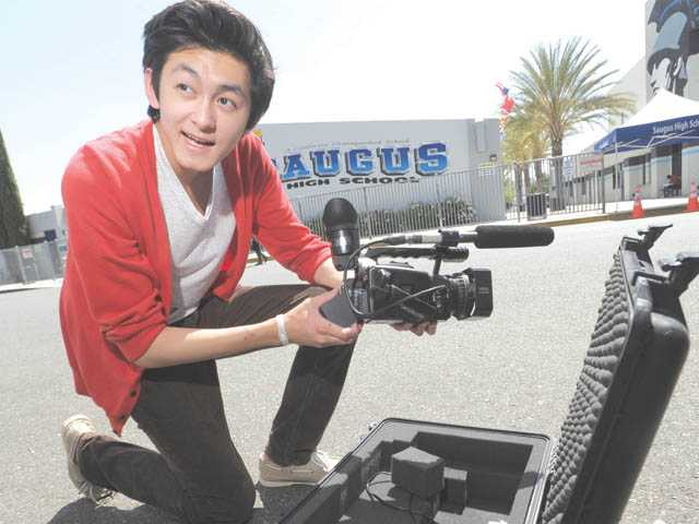 Saugus High School junior Cameron Quon recently won a national science competition for his video on solar energy. He's the lead producer for Saugus News Network and is a budding filmmaker.