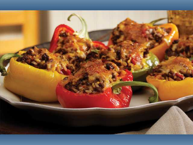 Mama Jeanne's stuffed peppers