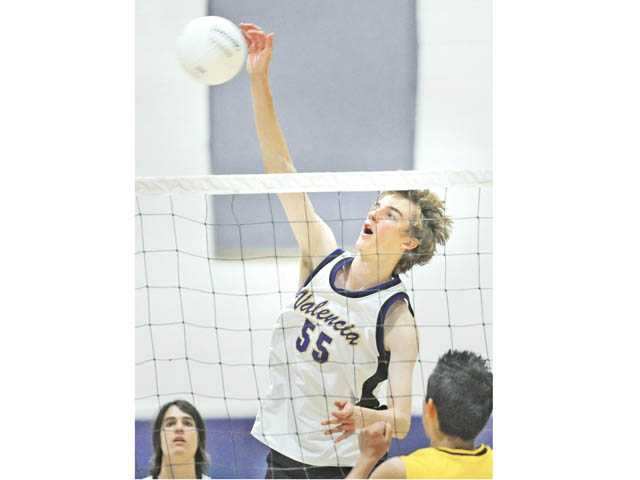Valencia senior Eric Ensing was selected by the Foothill League's coaches as the player of the year.