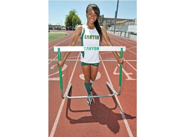 Taylor Thomas will compete in the 100 hurdles at Friday's CIF-Southern Section Masters Meet at Cerritos College.