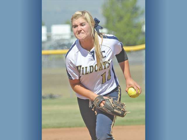 West Ranch pitcher Bailey Foster throws in a game on May 17. She was named the Foothill League's Pitcher of the Year by the league's coaches.