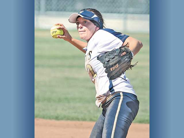 West Ranch shortstop Kylie Sorenson, shown throwing in a game on May 17, was named the Foothill League's Player of the Year by the league's coaches.