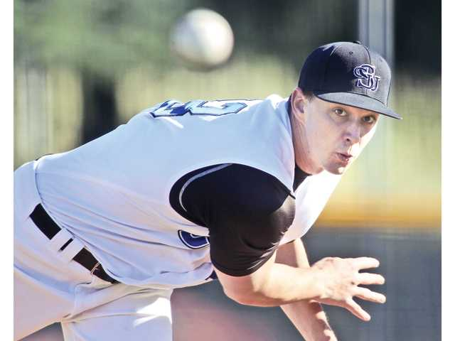 Cal State San Bernardino senior and Hart High graduate Casey McCarthy was selected 857th overall in the 38th round by the Miami Marlins in the Major League Baseball First-Year Player Draft on Wednesday.