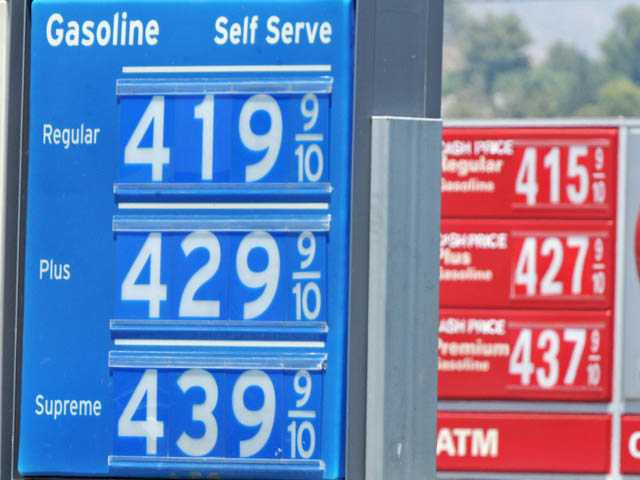 Gas prices take a dip