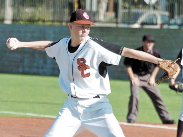 Santa Clarita Christian School senior pitcher Ryan Fullarton made the All-Heritage League first team for baseball.