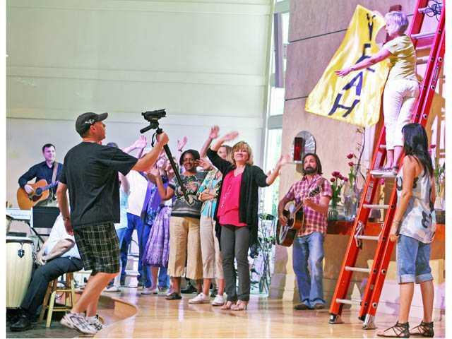Members of Christ Lutheran Church organized a video shoot in May to mark the 50th anniversary of the Valencia church. The video was designed to highlight the efforts of the congregation and its service to the Santa Clarita Valley.