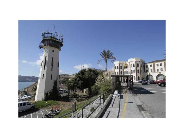 In this Sept. 21, 2010 file photo is the main entrance way to San Quentin State Prison, where the state's death row is located.