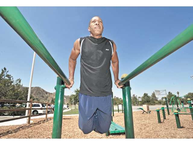 "Kelvin Antoine, 53, of Canyon Country, has gained fame as ""Grandpa Ninja"" on ""American Ninja Warrior"" shown on NBC TV."