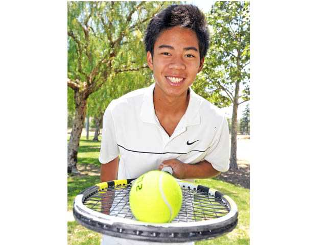 Valencia senior J.R. Macalutas won the Foothill League singles crown for the second time in his career this season.