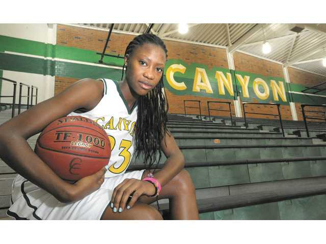 Canyon senior girls basketball player Alia McCoy.