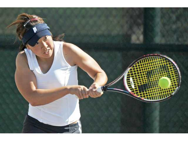 Golden Valley junior tennis player Rebecca Ho.