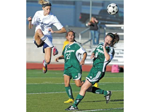 Saugus' Serena Smith-Banas was named The Signal's All-Santa Clarita Valley Girls Soccer Player of the Year for 2011-12