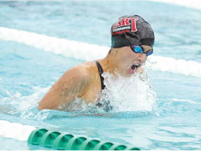 Hart swimmer Mik Ranslem.