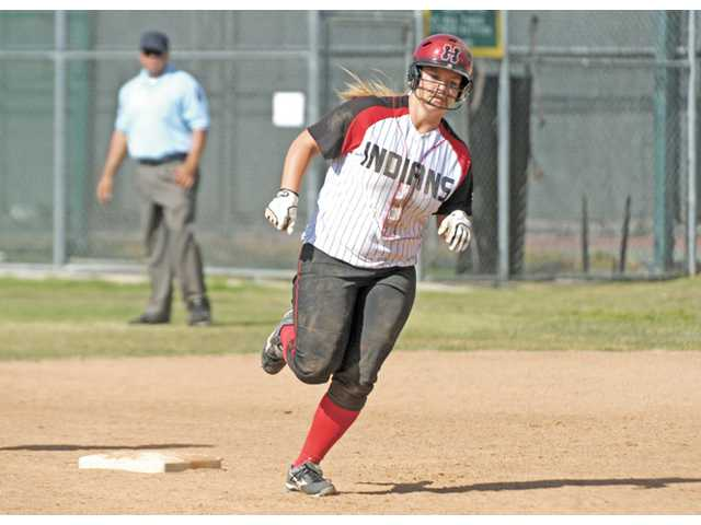 Hart softball player Tracy Chandless.