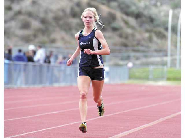 Saugus cross country and track and field runner Karis Frankian was named the school's co-Female Athlete of the Year for 2011-12.