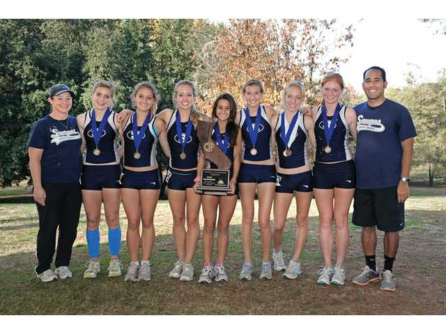 The 2011 Saugus girls cross country team claimed its sixth straight title at the CIF Division II State Cross Country Championship this past fall.