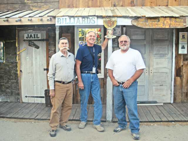 Left to right, Jerry Sokolowicz, Glen Terry and Al Frish at the Old West town created on site at Heritage Junction, adjacent to William S. Hart Park in Newhall. The site is the location of SCV Wild West Days, which will benefit the Santa Clarita Valley Historical Society.