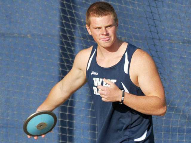 West Ranch track and field athlete Nick Bultman was named the school's Male Athlete of the Year for 2011-12.