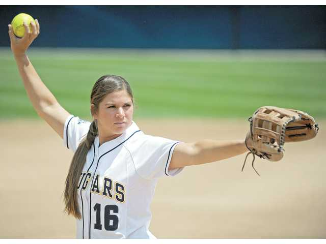 College of the Canyons pitcher Kimmie Lockhart.