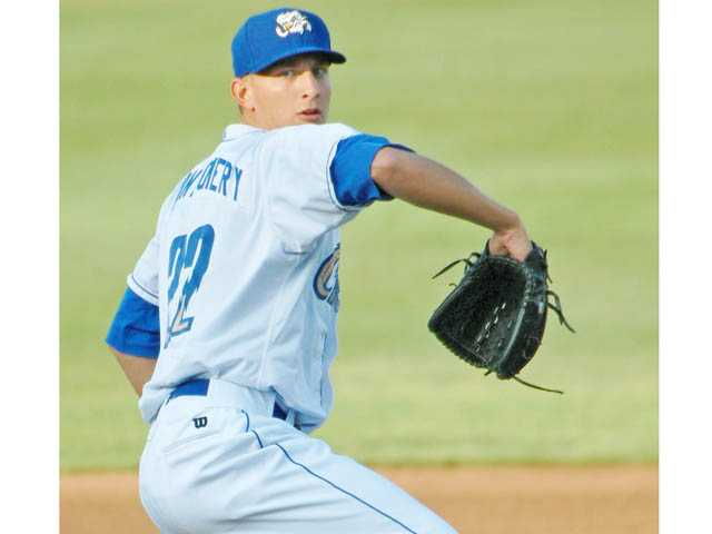 Hart High graduate Mike Montgomery is in his second season with the Triple-A Omaha Storm Chasers of the Kansas City Royals organization.