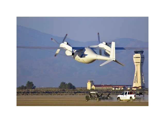 In this June 1, the new Boeing Phantom Eye unmanned drone, designed to stay airborne for days, takes off on its first autonomous flight at the NASA Dryden Flight Research Center at Edwards Air Force Base