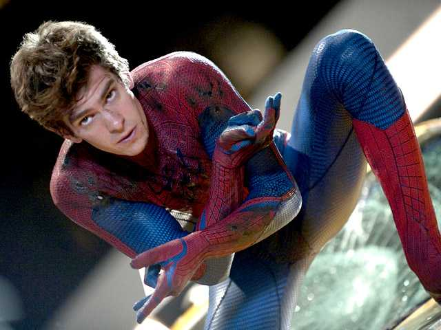 "In this film image released by Sony Pictures, Andrew Garfield is shown in a scene from ""The Amazing Spider-Man."""
