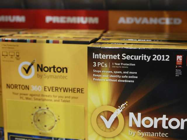 Norton's Internet Security 2012 software for computer security on display at Best Buy in Mountain View on Friday.