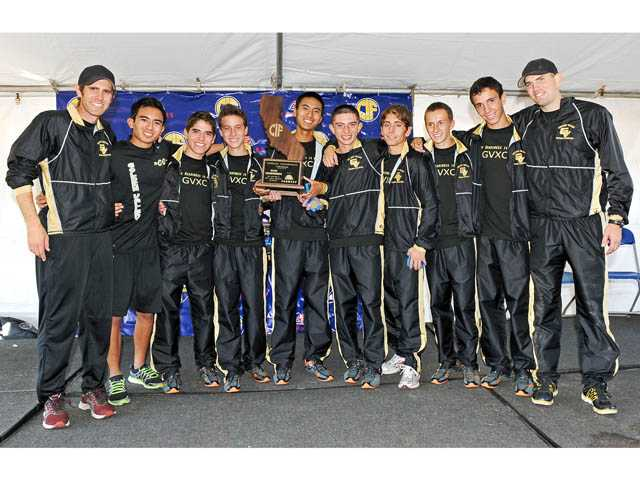The 2011 state champion Golden Valley boys cross country team.